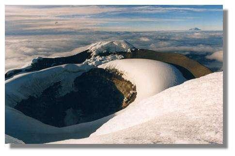 Sommet du Cotopaxi en janvier 2001, Équateur. © IRD, Jean-Philippe Eissen