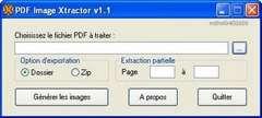 PDF Image Xtractor permet de récupérer des images d'un PDF. © DR