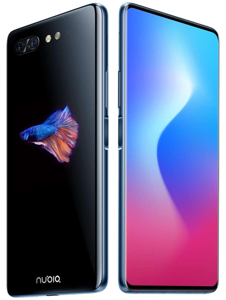 Avec un écran Oled de 5,1 pouces à l'arrière, le Nubia X peut étendre l'affichage au maximum sur la surface de l'écran. Le module photo pour les selfies disparaît au profit de l'afficheur arrière. © ZTE
