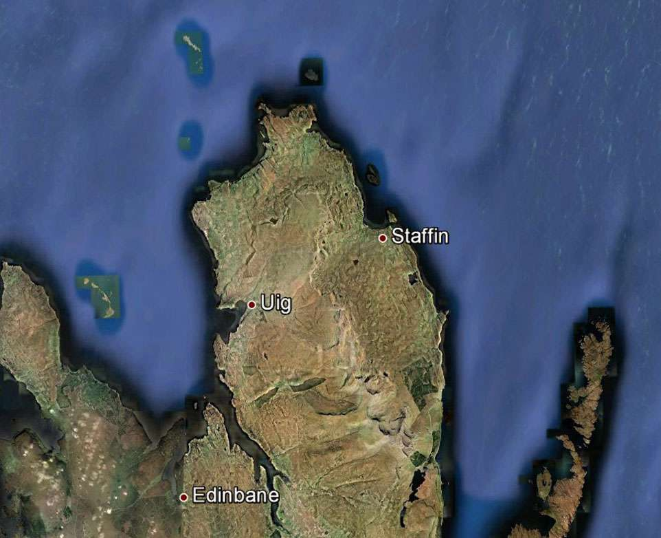 Glissement du Quiraing. © Google Maps, DP