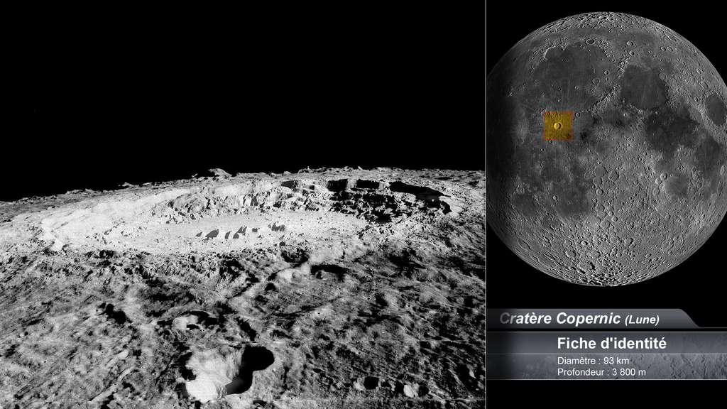 Le cratère Copernic sur la Lune
