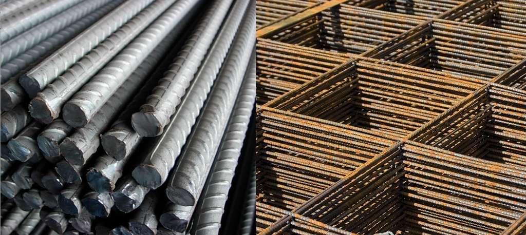 Le béton armé fait appel à des aciers lisses (barres rondes, fils tréfilés…) ou des aciers haute adhérence (HA), caractérisés par des reliefs (empreintes en creux, torsades…) plus « accrochants ». © KDI France