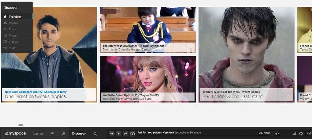 La fonction « discover » de Myspace permet de découvrir, entre autres, les tendances et actualités musicales du moment. © Sylvain Biget, Futura-Sciences
