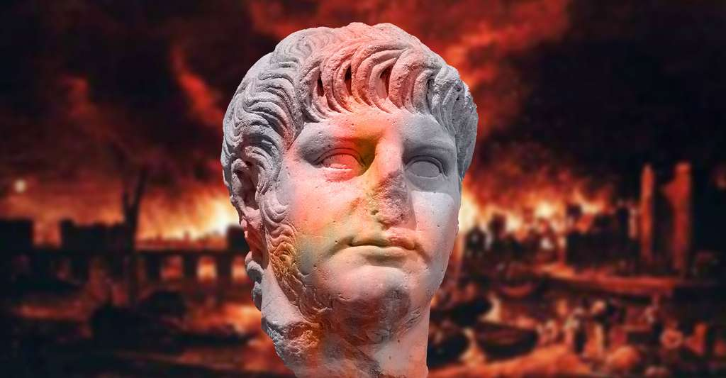 Portrait de Néron, mort en 68 ap. J.-C. Œuvre romaine en marbre datant du Ier siècle ap. J.-C. © Jastrow, DP
