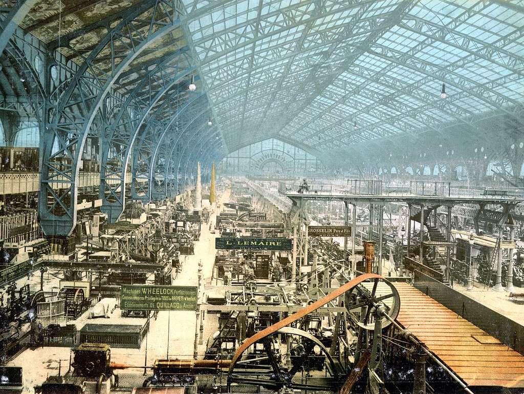 Galerie des Machines. Exposition universelle internationale de 1889 à Paris, France. © Auteur inconnu, source Bibliothèque du Congrès des États-Unis, DP