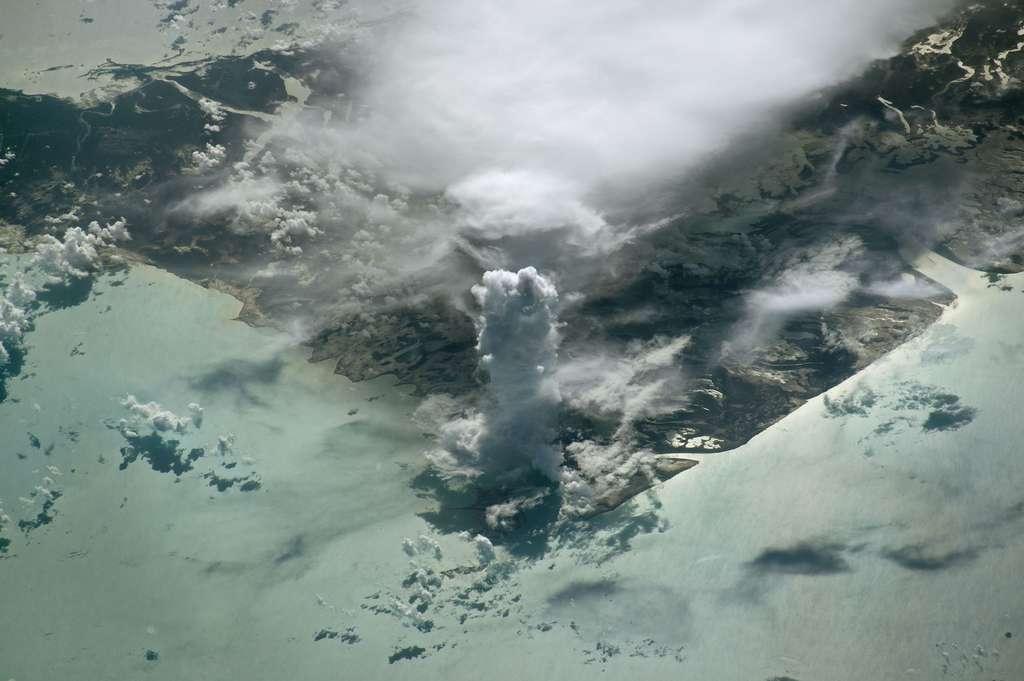 Un nuage castellanus vu de l'espace, 2016. © Nasa Earth Observatory