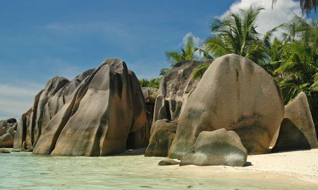 Rochers de l'anse Sources d'Argent, sur l'île de La Digue. © Antoine