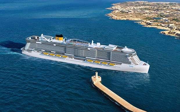 Un navire de croisière géant pour 6.600 passagers qui essaiera d'être moins polluant que la moyenne. © Costa Cruises