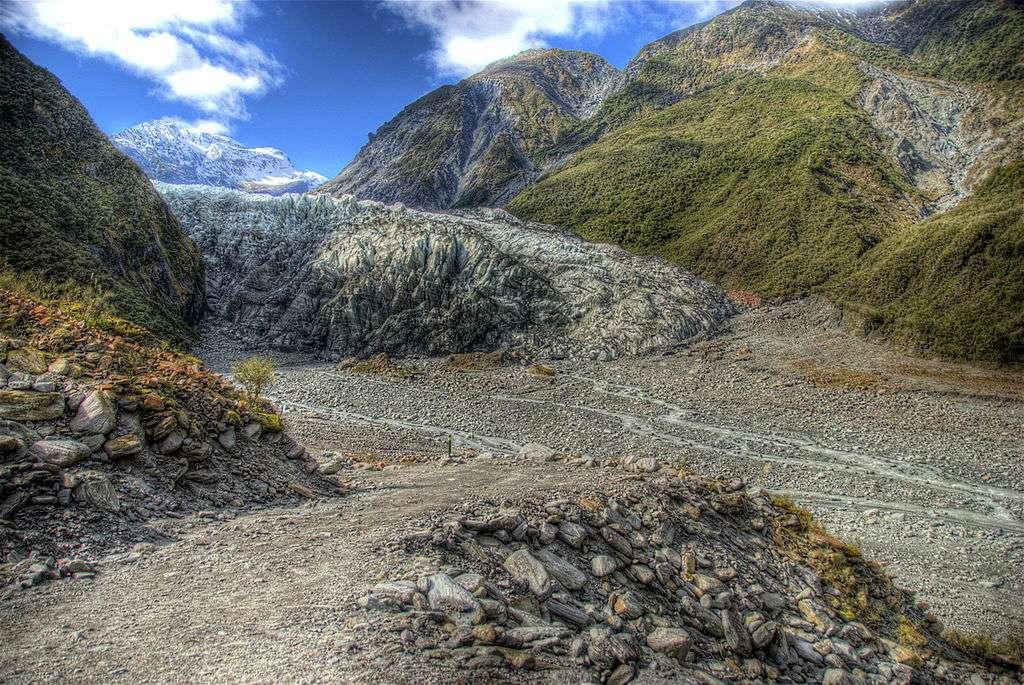 Le glacier Fox recule rapidement en raison du changement climatique. © Ville Mienttinen, Wikimedia commons, CC 2.0