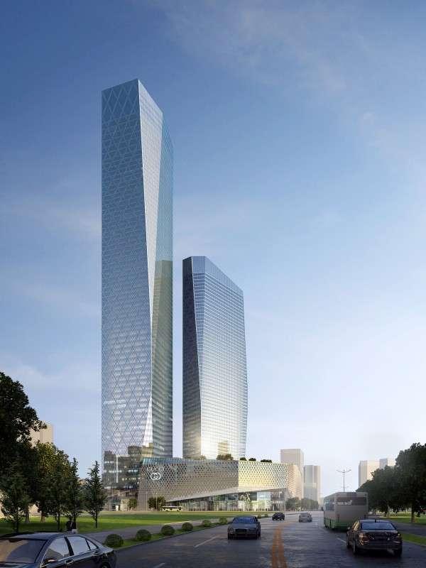 La Suning Plaza Tower 1 à Zhenjiang. © Zhenjiang Urban Planning Bureau