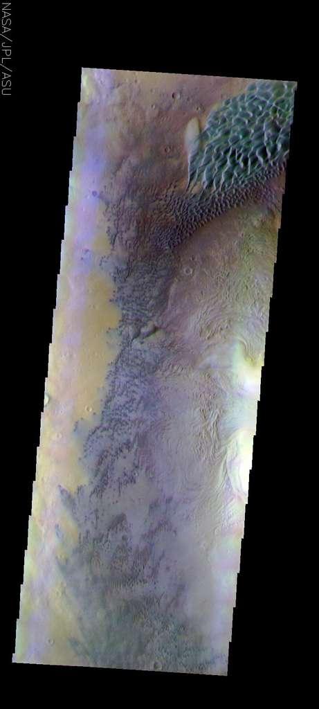 Dunes sur Mars du cratère Moreux