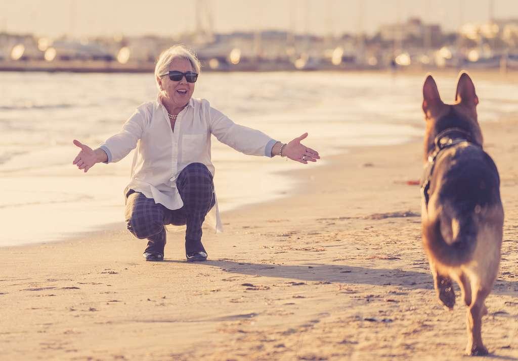 Besoin de motivation pour faire un peu d'exercice physique? Rien de tel que la compagnie d'un chien pour vous encourager à sortir. © samuel, Fotolia