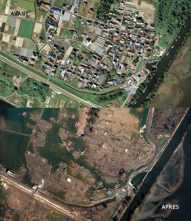 Quartier de Fujitsuka, victime du tsunami du 11 mars 2011