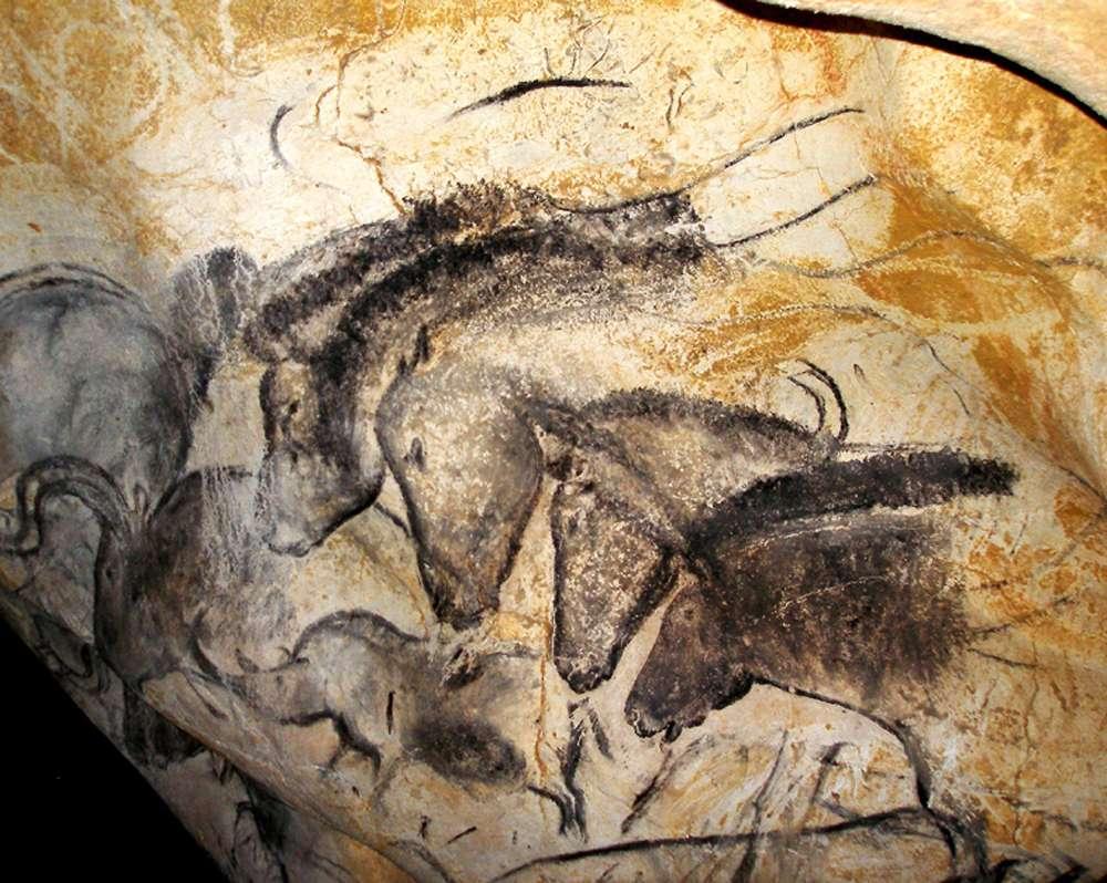 Le panneau des chevaux de la grotte Chauvet