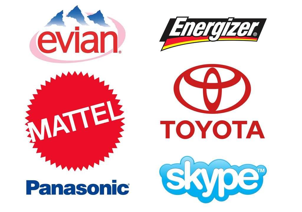 De nombreuses marques utilisent la police Helvetica pour leurs logos. © DR