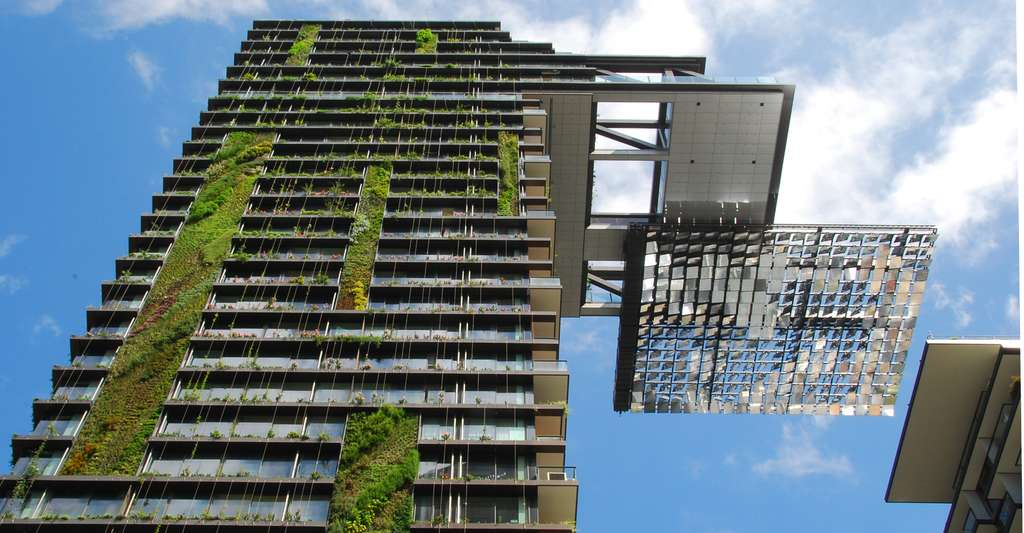 Le One Central Park et ses murs végétaux, à Sydney