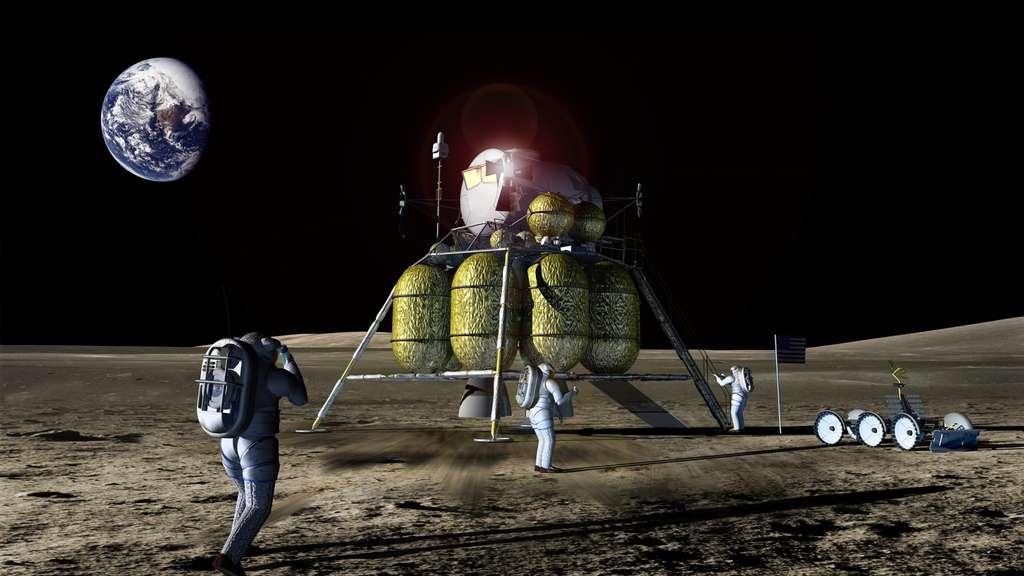 Ce n'est qu'après une série de missions robotiques et habitées proches de la Terre (Lune, astéroïdes) que nous serons fixés sur nos capacités à envoyer des Hommes sur Mars. © Nasa