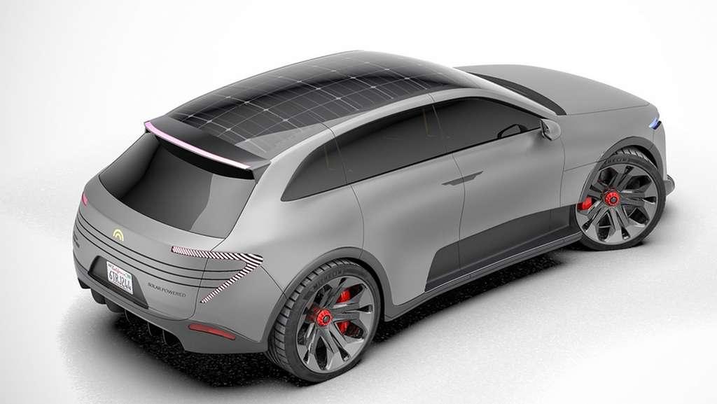 Le SUV électrique et solaire Humble One est doté de cellules photovoltaïques qui recouvrent l'intégralité du toit et certains éléments de carrosserie. © Humble Motors