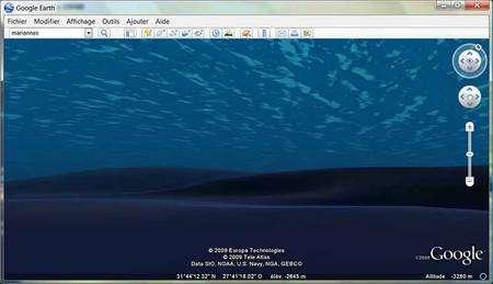 Voyage au fond des mers avec Google ! Copie d'écran Google Earth Ocean