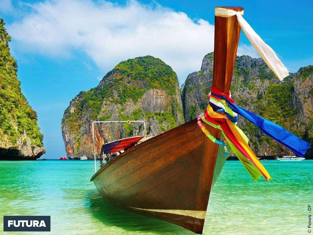 Thaïlande petite virée à bord d'un bateau typique le «Long tail boat»
