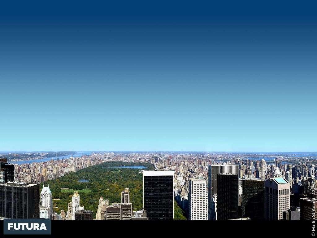 Vue panoramique du nord de Manhattan