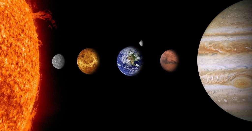 Quels étaient les précurseurs de la relativité galiléenne ? Ici, une représentation du Système solaire. © Comfreak, DP