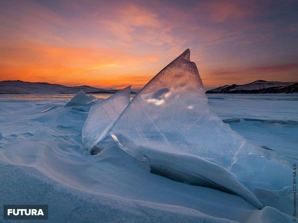 Coucher de soleil sur le lac Baikal