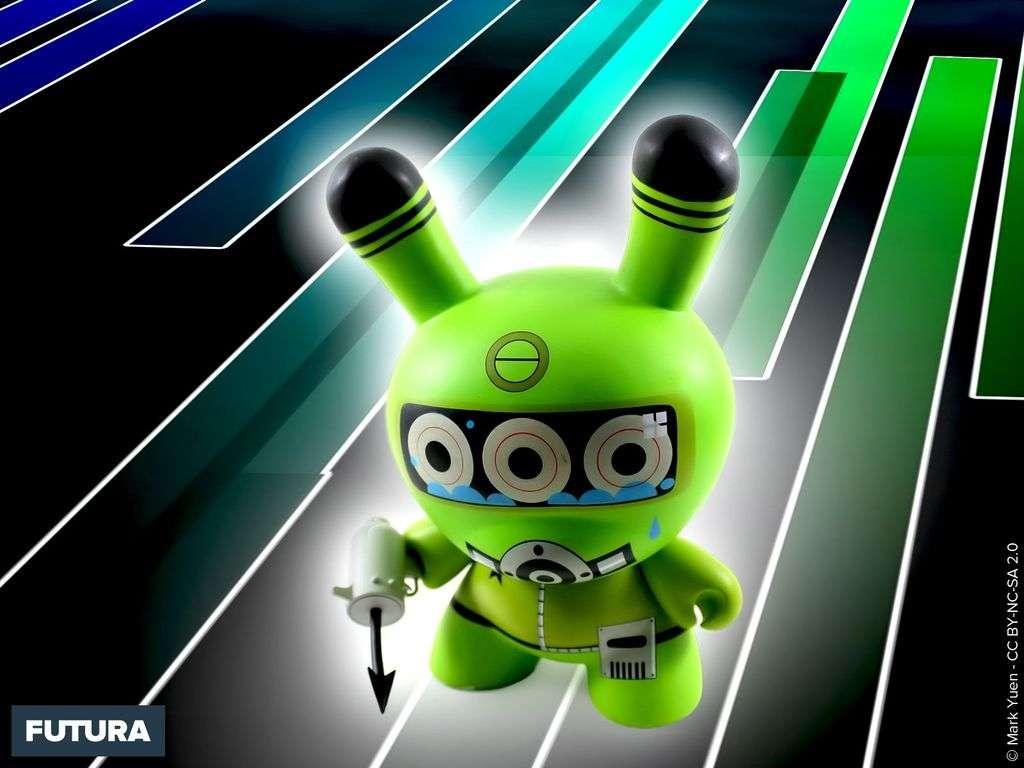 Robot géant vert