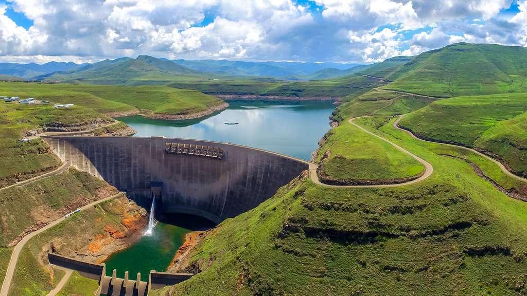 Le barrage de Katse, le château d'eau de l'Afrique du Sud
