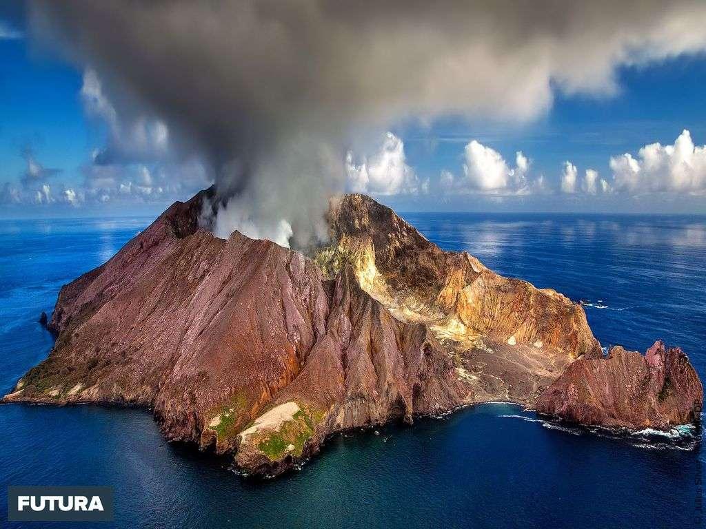 Cratère du volcan White Island, Nouvelle Zélande
