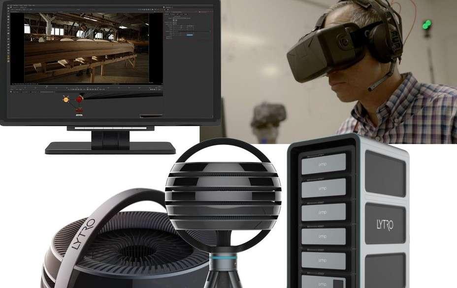 Le concept Lytro Immerge se compose de quatre éléments : la caméra sphérique qui filme à 360 degrés, un serveur pour le stockage et le traitement des données, des outils de montage et un logiciel de lecture vidéo adapté aux casques de réalité virtuelle. © Lytro