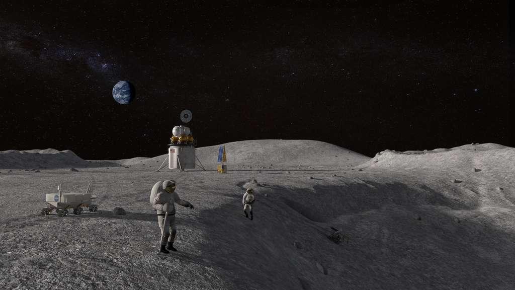 En 2024, deux Américains, une femme et un homme, devraient débarquer sur la surface de la Lune. © Nasa