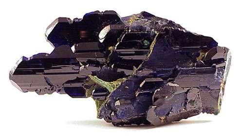 Azurite extraite de la mine de Tsumeb. © DR