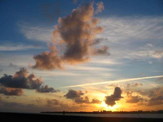 Coucher de soleil à la Rochelle