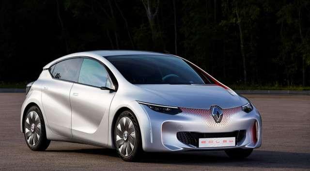 L'Eolab de Renault, un prototype présenté au Mondial de l'automobile 2014, dispose d'un petit moteur thermique à trois cylindres de 75 ch assisté par un moteur électrique de 50 kW. © Renault