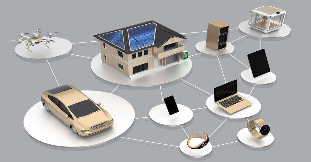 Toutes les applications d'une maison connectée. © Chesky - Shutterstock