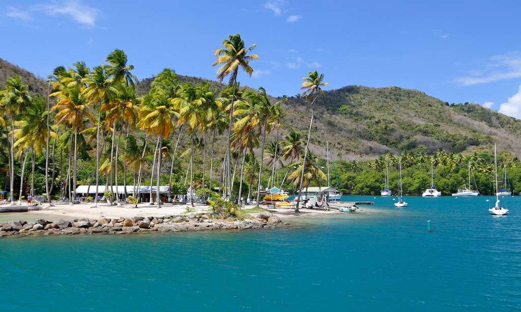 La baie de Marigot, l'une des plus belles des Caraïbes