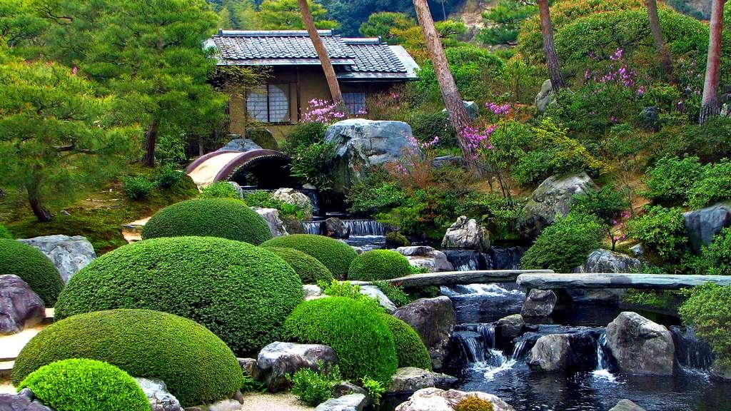 Le jardin des quatre saisons, une peinture vivante