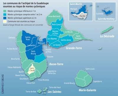 Communes de l'archipel de la Guadeloupe. © DR