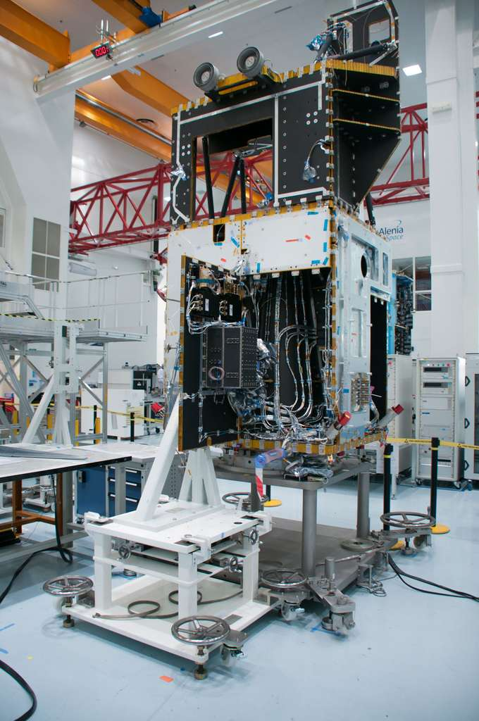 État d'avancement de la construction du satellite Sentinel 3B au mois de novembre 2014. © Rémy Decourt
