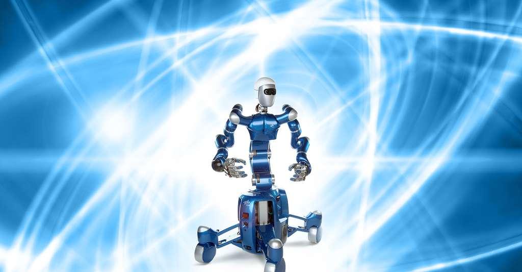 SpaceJustin est un robot humanoïde. © Deutschen Zentrum für Luft- und Raumfahrt - CC-BY 3.0