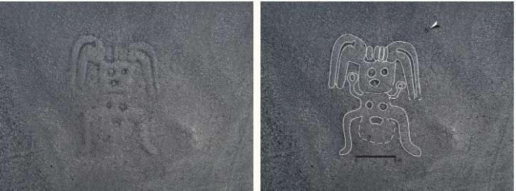 De forme humanoïde, ce géoglyphe de type B. © Yamagata University