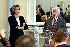 Claudie Haigneré & Roger-Maurice Bonnet