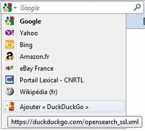 De nombreux sites, notamment des magasins en ligne, disposent d'un moteur de recherche installable sur Firefox. Un moyen pratique de rendre plus rapide la navigation entre ces différents sites. © Guénaël Pépin