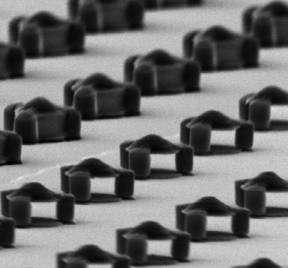 Les différents micro-aimants. Crédit : G. Zabow, NIST/NIH