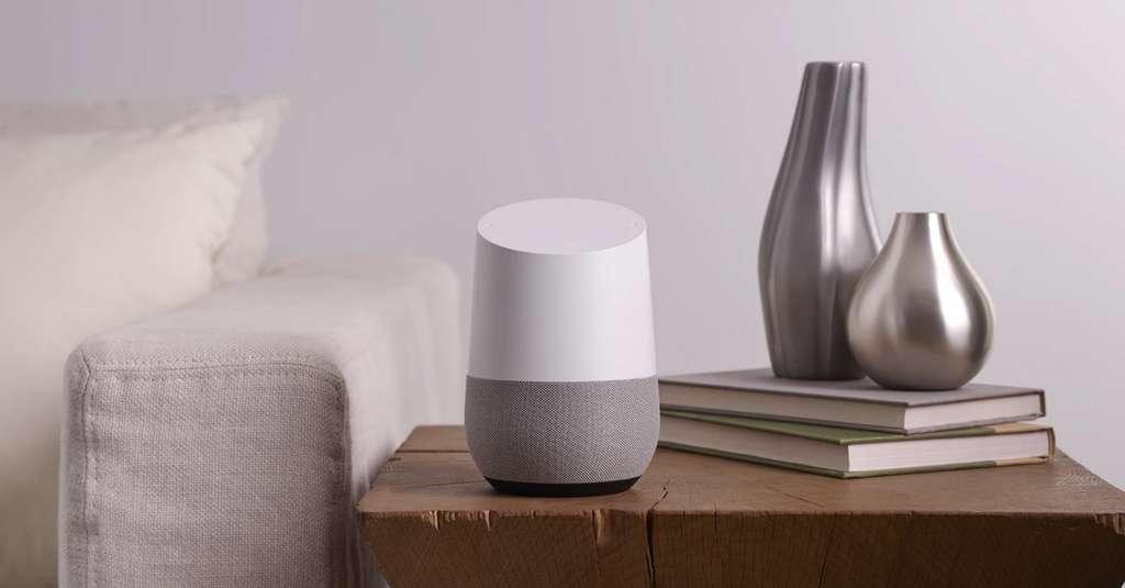 L'enceinte connectée Google Home. Elle prend les commandes, à condition que ce soit chez Wal-Mart. © Google