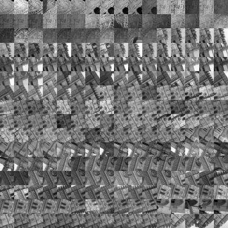 Image mosaïque brute à la base d'une synthèse de représentation en 3D. Aurez-vous reconnu Notre-Dame de Paris ? Crédit Université de Washington