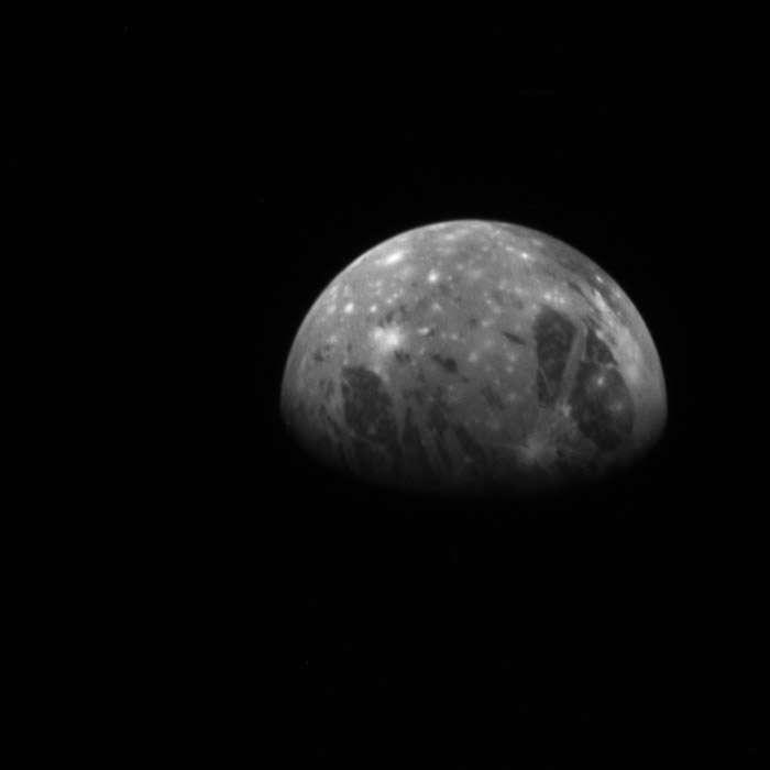 Cette vue de Ganymède a été acquise par la sonde News Horizon, alors en route à destination de Pluton (février 2007). © Nasa, JHUAPL, Southwest Research Institute