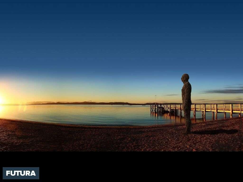 Coucher de soleil à Maraetai Beach, Nouvelle Zélande