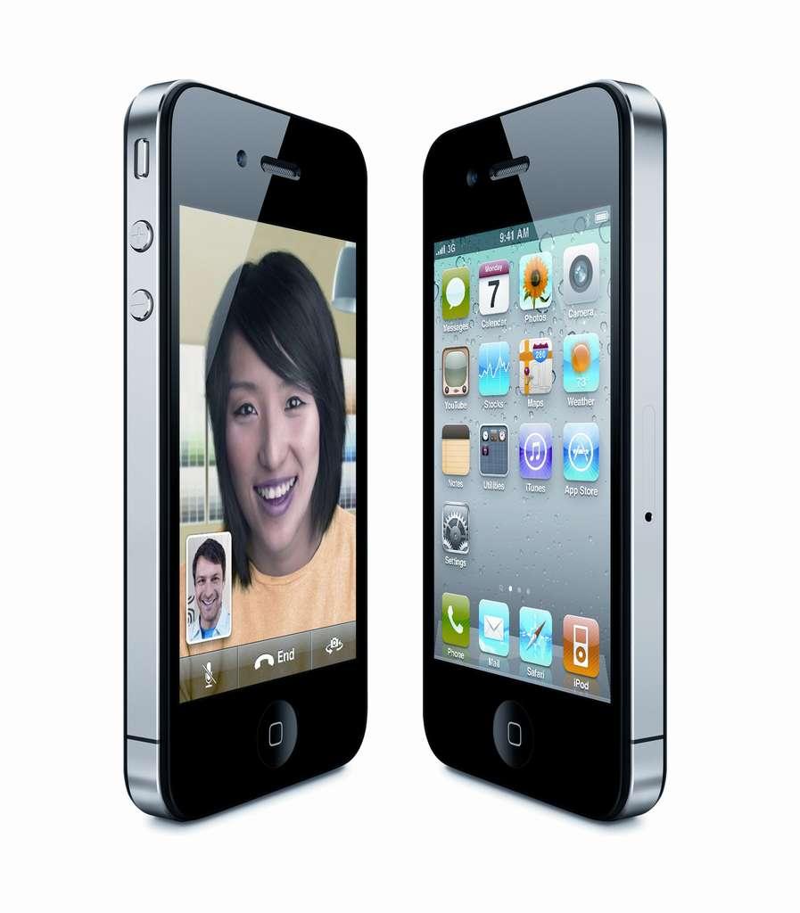Une caméra frontale supplémentaire permet la visiophonie. © Apple
